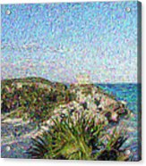 Homage To Vincent Had He Only Seen Cozumel II Acrylic Print