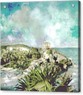 Homage To Vincent Had He Only Seen Cozumel Acrylic Print