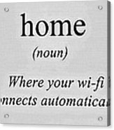 Home And Wifi Acrylic Print