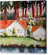 Home By The Lake Acrylic Print by Blenda Studio