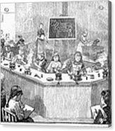 Home Economics Class, 1886 Acrylic Print