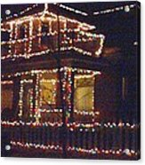 Home Holiday Lights 2011 Acrylic Print by Feile Case