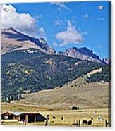 Home On The Range - A Westcliffe Ranch Acrylic Print