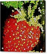 Homegrown Strawberry Mosaic Acrylic Print