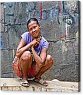 Homeless In Indonesia Acrylic Print