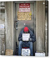 Homeless In The Usa Acrylic Print