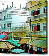Homes In Tachilek-burma Acrylic Print