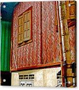 Homes On Stilts In Tachilek-burma Acrylic Print