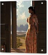Homestead Woman Acrylic Print