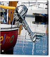 Honda Boat Engine Acrylic Print
