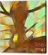 Honey Pastel Abstract Acrylic Print