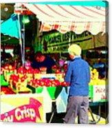 Honeycrisp Apples Fruit Stand Marcel Les Pommes St Joseph Du Lac  Food Art Scenes Carole Spandau Acrylic Print