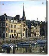 Honfleur Harbour. Calvados. Normandy. France. Europe Acrylic Print by Bernard Jaubert