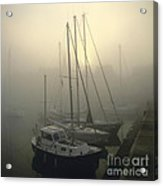 Honfleur Harbour In Fog. Calvados. Normandy Acrylic Print