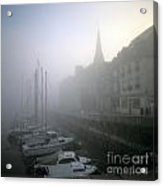 Honfleur Harbour In Fog. Calvados. Normandy. France. Europe Acrylic Print