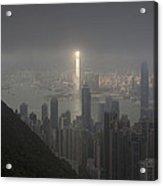 Hong Kong From Victoria Peak Acrylic Print