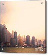 Hong Kong Harbour Sunset Acrylic Print