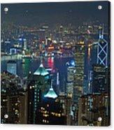 Hong Kong Night Scene Acrylic Print