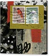 Hong Kong Postage Collage Acrylic Print