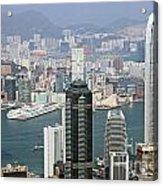 Hong Kong Skyline Acrylic Print by Lars Ruecker