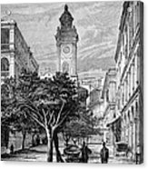 Hong Kong Street Scene, 1880s Acrylic Print