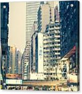 Hong Kong Street  Acrylic Print