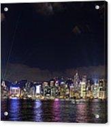 Hong Kong Symphony Of Lights Show Acrylic Print