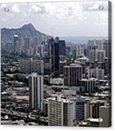 Honolulu - Diamond Head - Pacific Acrylic Print