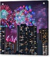 Honolulu Festival Fireworks Acrylic Print