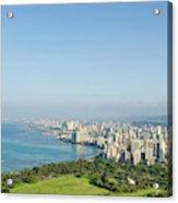Honolulu From Atop Diamond Head State Acrylic Print