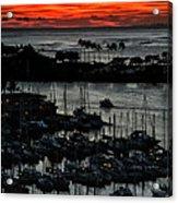Honolulu Marina Sunset Acrylic Print