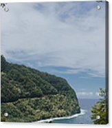 Honomanu Highway To Heaven Road To Hana Maui Hawaii Acrylic Print