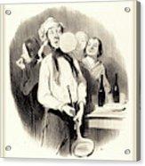 Honoré Daumier French, 1808-1879, Les Crêpes Acrylic Print