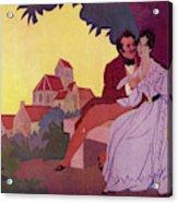 Honore De Balzac With His  Greatest Acrylic Print