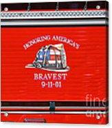 Honoring Americas Bravest Sept 11 Acrylic Print
