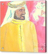 Honoring Sheikh Mohammed bin Rashid Al Maktoum Constitutional Monarch of Dubai 1 Acrylic Print