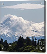 Hood In The Clouds  Acrylic Print