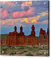Hoodoo Storm Acrylic Print by Marty Fancy