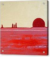 Hoodoo Sunrise Original Painting Acrylic Print