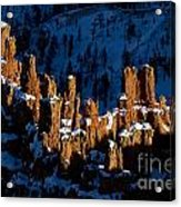 Hoodoos In Shadows Bryce Canyon National Park Utah Acrylic Print