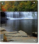 Hooker Falls In Color Acrylic Print