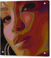 Hoops And Bangs Acrylic Print