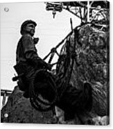 Hoover Dam Climber Acrylic Print