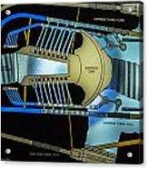 Hoover Dam Diagram Acrylic Print