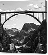 Hoover Dam Memorial Bridge Acrylic Print