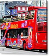 Hop On And Hop Off Bus In Bergen Acrylic Print