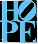 Hope 20130710 Blue Black Acrylic Print