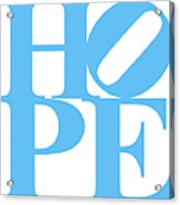 Hope 20130710 Blue White Acrylic Print by Wingsdomain Art and Photography
