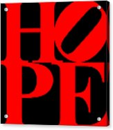 Hope 20130710 Red Black Acrylic Print