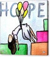 Hope Afloat  Acrylic Print by Kiara Reynolds